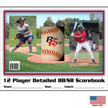 12 Player / 48 Game – Detailed Baseball/Softball Scorebook