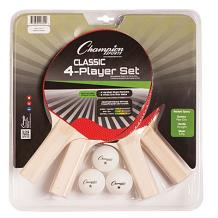 4 Player Table Tennis Set